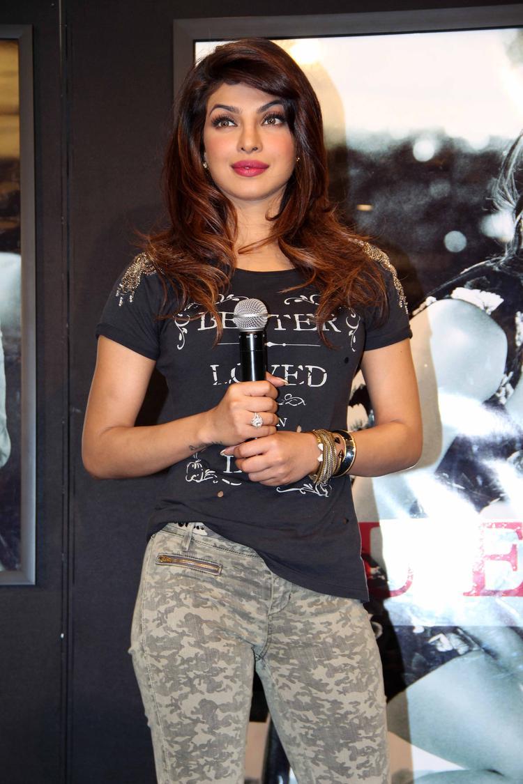 Priyanka Chopra During The Press Meet For Campaign New Collection Guess