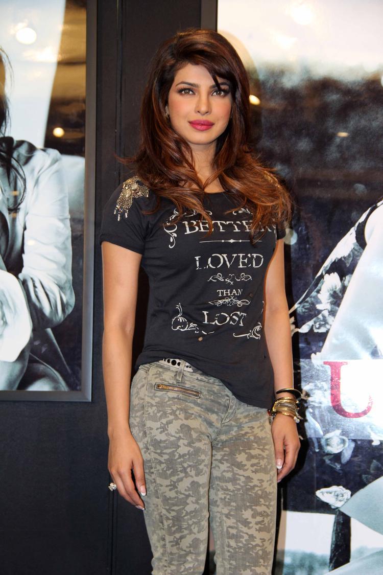 Priyanka Chopra Pose For Camera At Guess Campaign Event