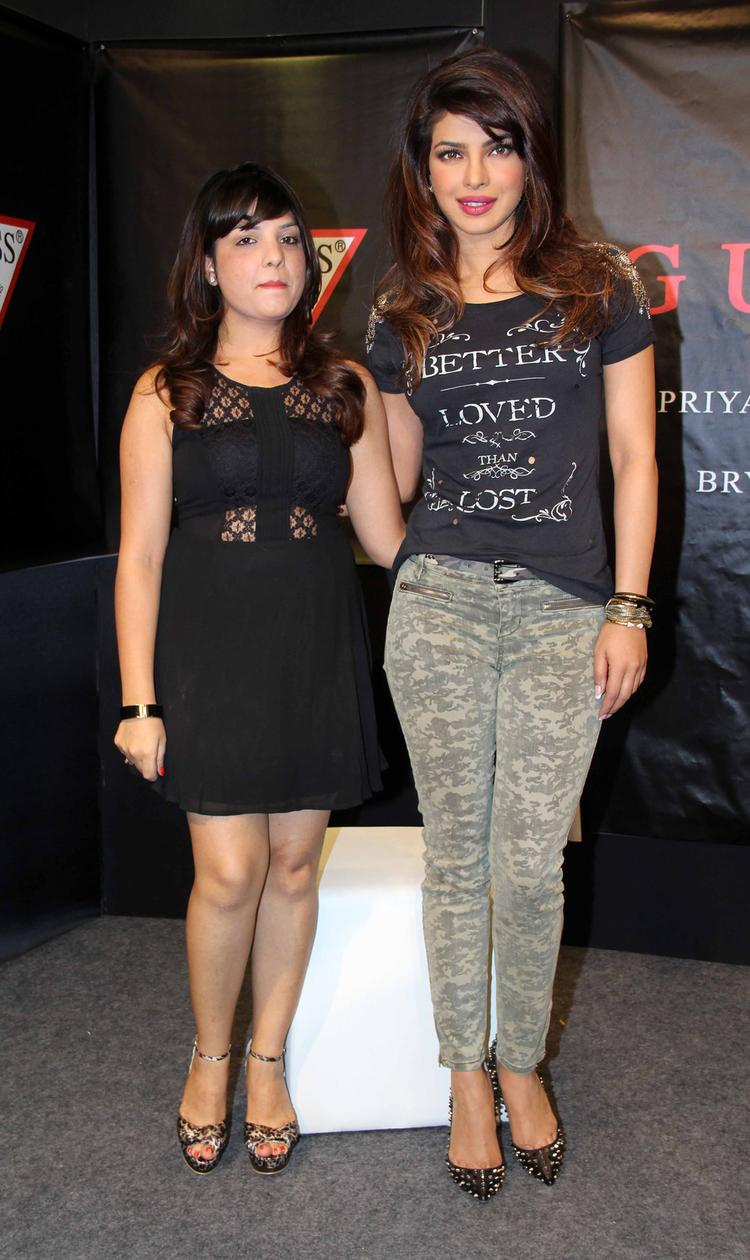 Priyanka Recently Launched The Guess Holiday Campaign In Mumbai