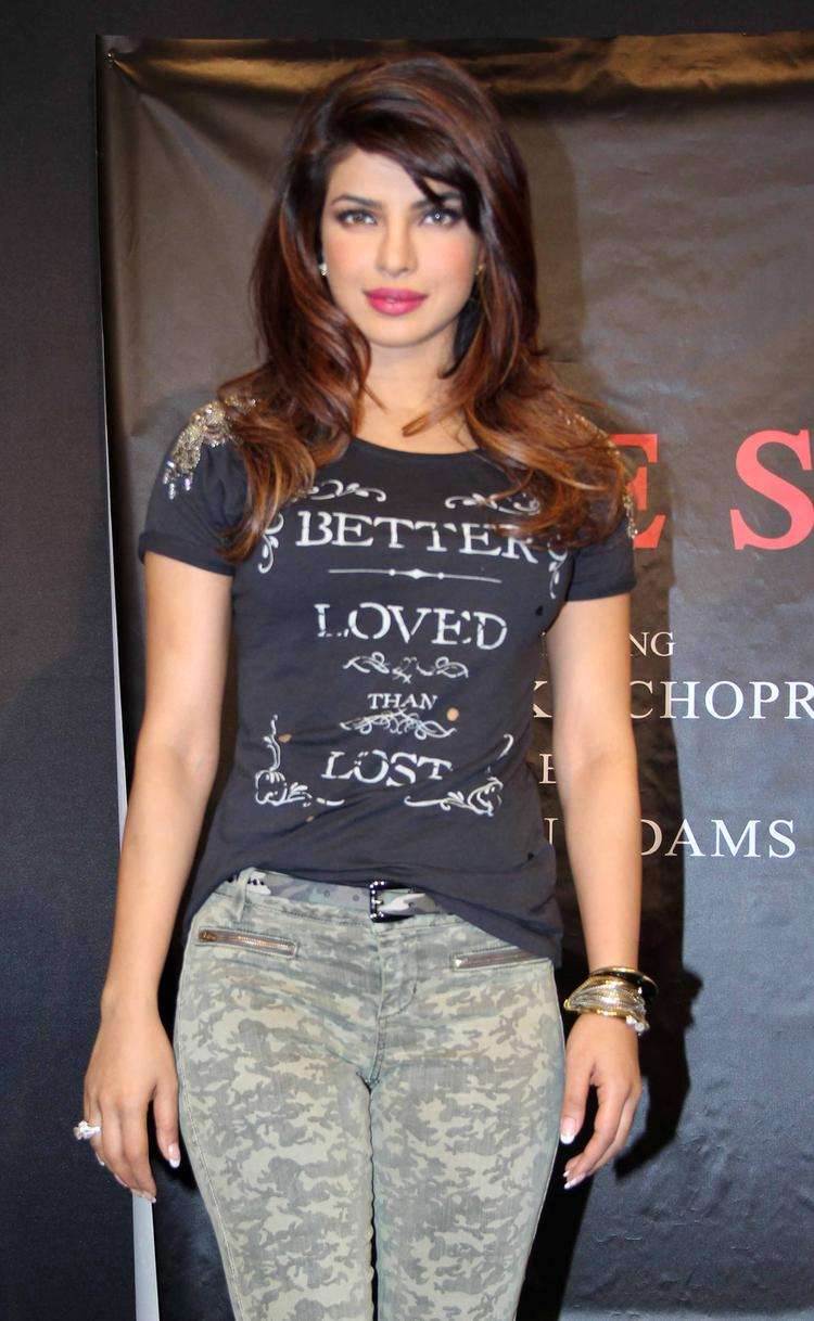 Sizzling Priyanka Chopra Unveils The Guess Campaign New Collection