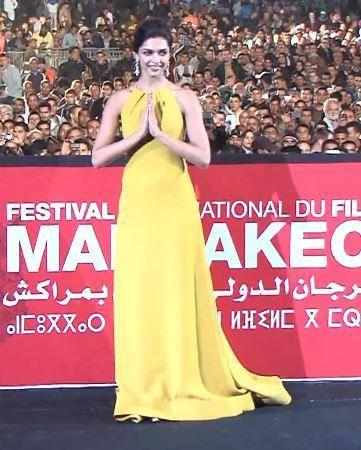 Deepika Padukone In Beautiful Yellow Gown At The Marrakech Film Festival