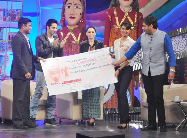 Varun,Karisma,Priyanka And Vikram At Priyanka Chopra & NDTV's Our Girl Our Pride Fundraiser 2013 Campaign