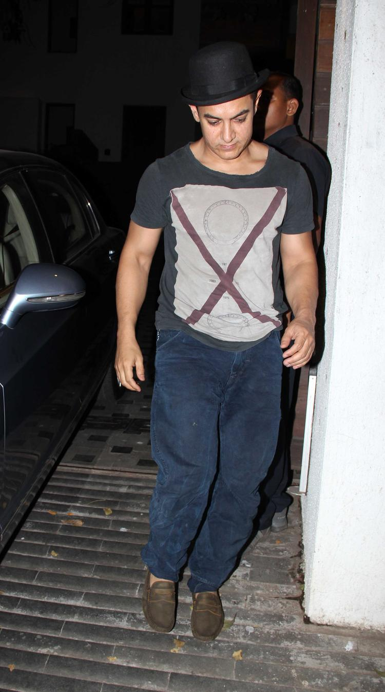 Aamir Khan Spotted To Celebrate His Son Azad Rao Khan Birthday Bash