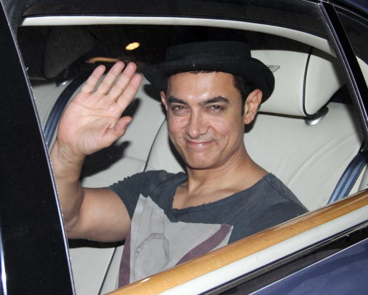 Bollywood Star Aamir Khan At His Son Azad Rao Khan 2nd Birthday Bash