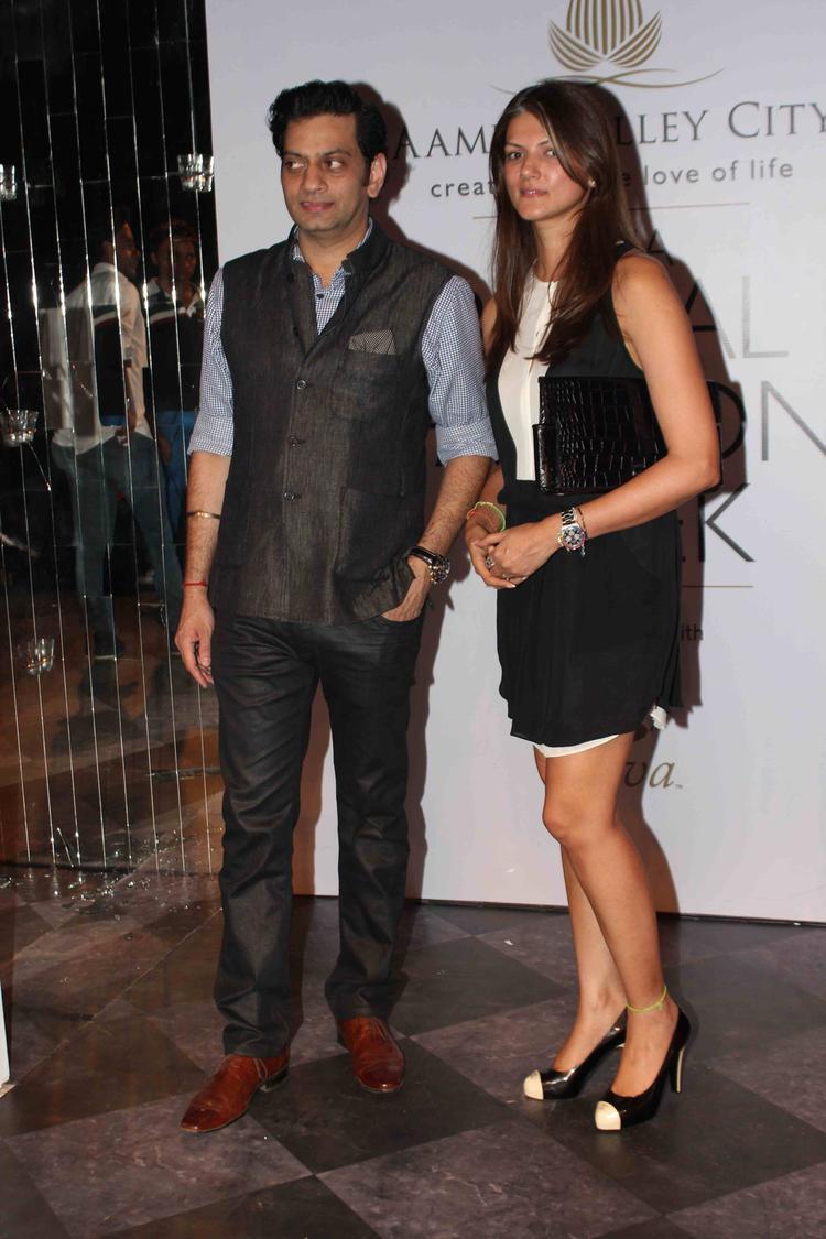 Designer Raghavendra And Nandita Posed For Lenses On Day 3 Raghavendra Rathore Show At IBFW 2013