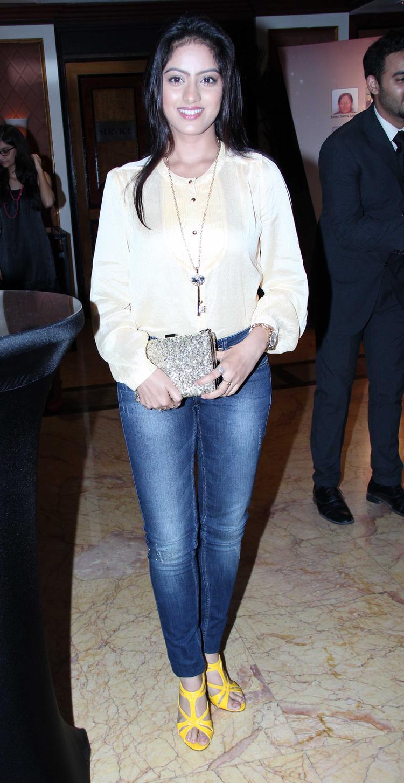 Telly Actress Deepika Singh Flashes A Smile During The CNN IBN's Senior Citizen Awards 2013