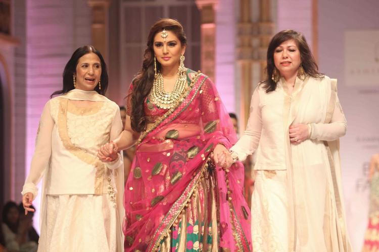 Huma Qureshi Walks With Ashima and Leena At AVIBFW Day 04