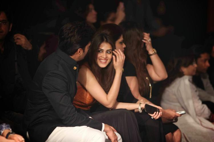Genelia D'souza At IBFW 2013 Show To Watch Sania Mirza Ramp For Shantanu And Nikhil