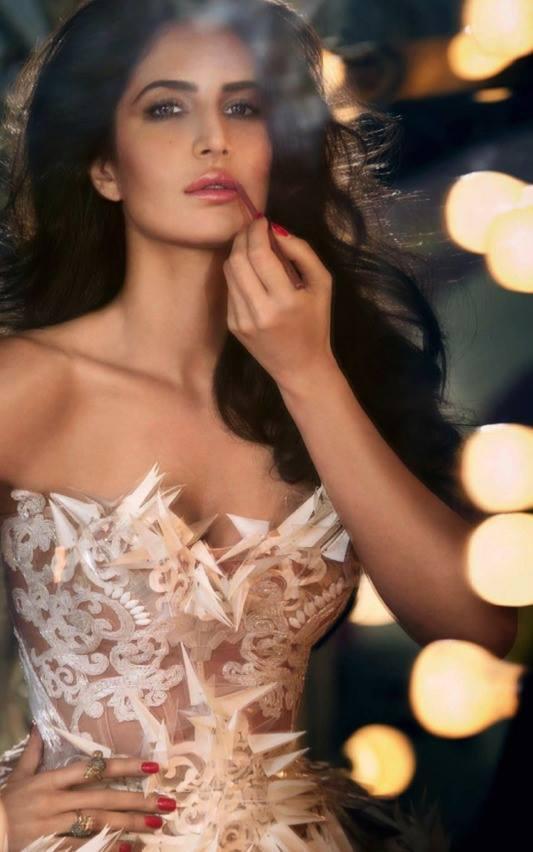 Katrina Kaif  Vogue December 2013 Issue Latest Spicy Still With Lip Liner