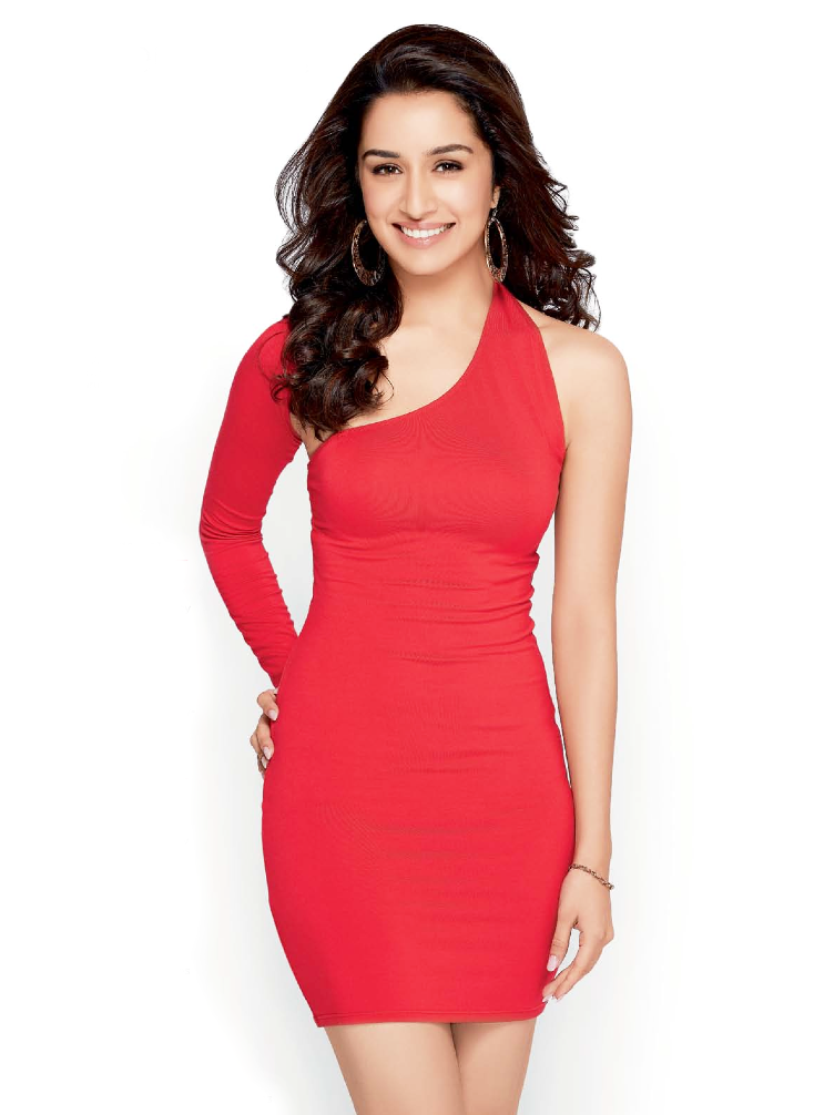 Smiling Cutie Shraddha Kapoor In Red Dress Gorgeous Look Photo Shoot For Women Health India Dec 2013