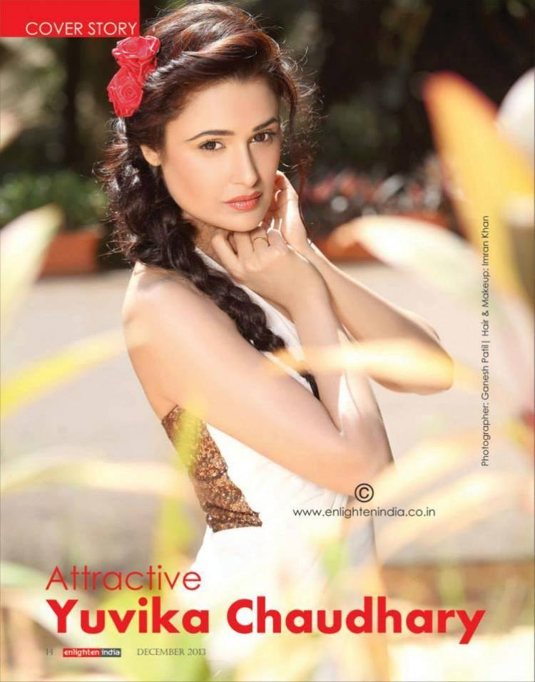 Yuvika Chaudhary Stunning Look For Enlighten India December 2013 Issue