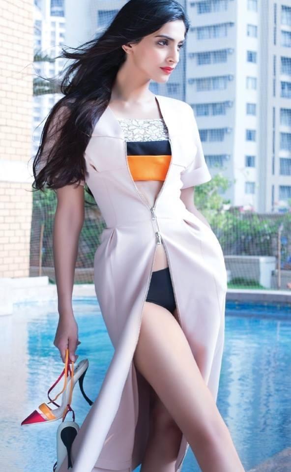 Sonam Kapoor Spicy Look Photo Shoot For Hi! Blitz December 2013 Issue