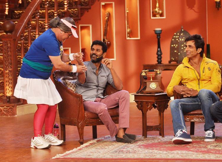 Dadi Fun With Prabhu Deva At Comedy Nights with Kapil Show