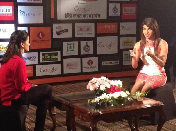 Priyanka Chopra Speaks Something At The Agenda Aaj Tak Program