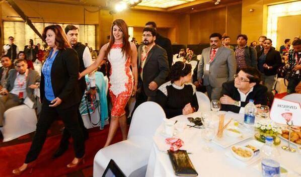 Sizzling Priyanka Chopra Spotted At Agenda Aaj Tak Program