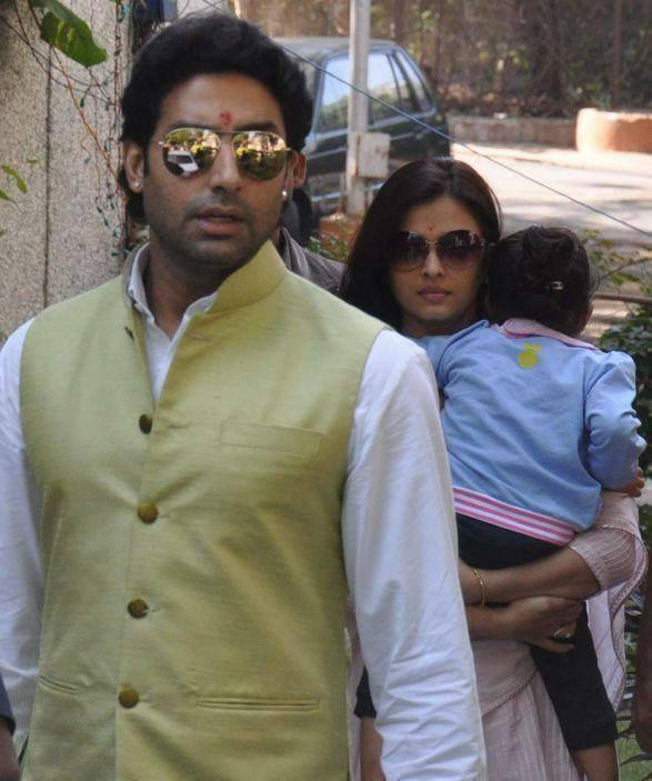 Abhishek And Aishwarya With Aaradhya Attend A Family Wedding Ceremony