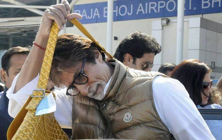 Amitabh Bachchan Spotted At Bhopal To Attend Wedding Of A Reletive