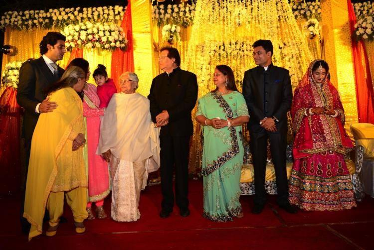 Jaya,Abhishek And Aishwarya Attend A Family Wedding
