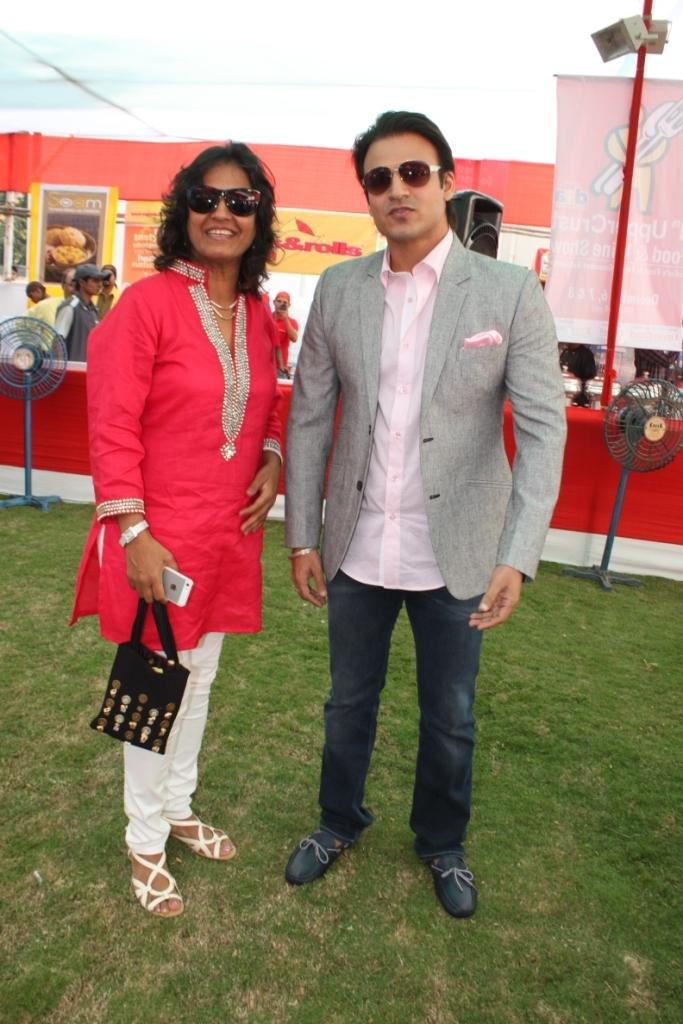 Farzana And Vivek Strike A Pose During The Inauguration Of The Uppercrust Food And Wine Show 2013