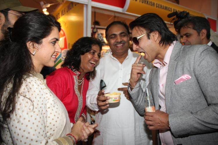 Vivek Take Food, Farzana,Jayant And Shaina Cool Look At The Inauguration Of The Uppercrust Food And Wine Show 2013