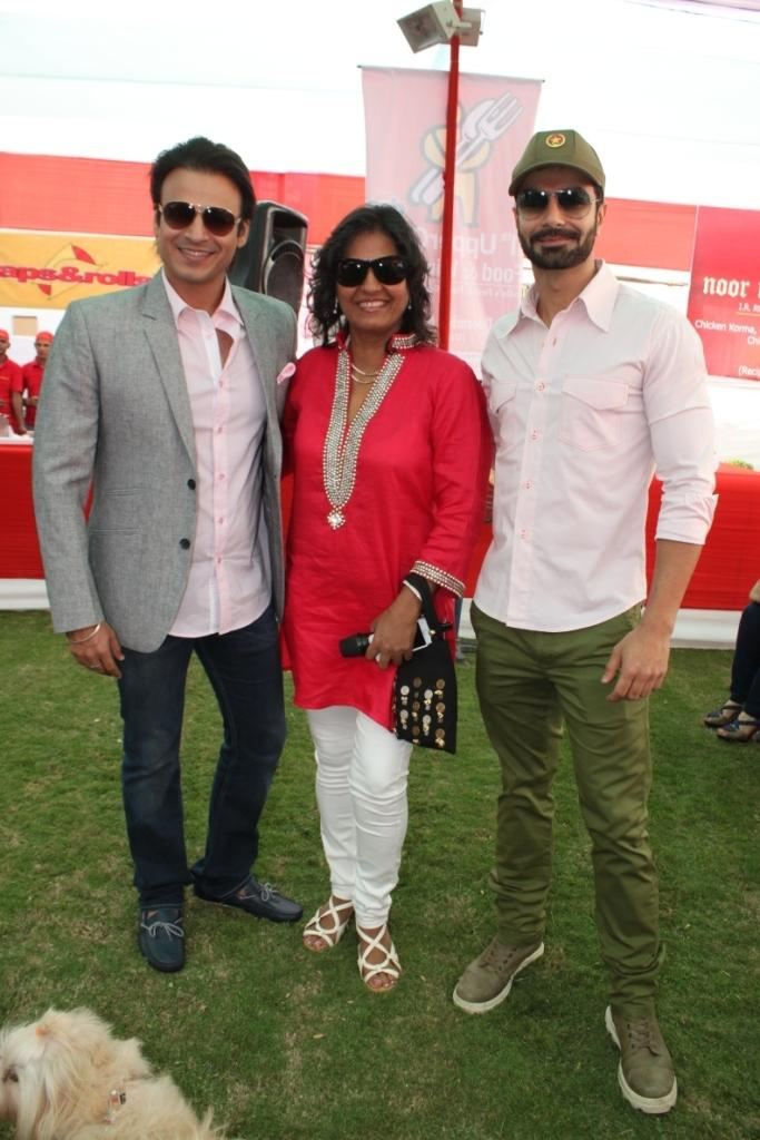 Vivek,Farzana And Ashmit Clicked At The Uppercrust Food And Wine Show 2013 Launching Event