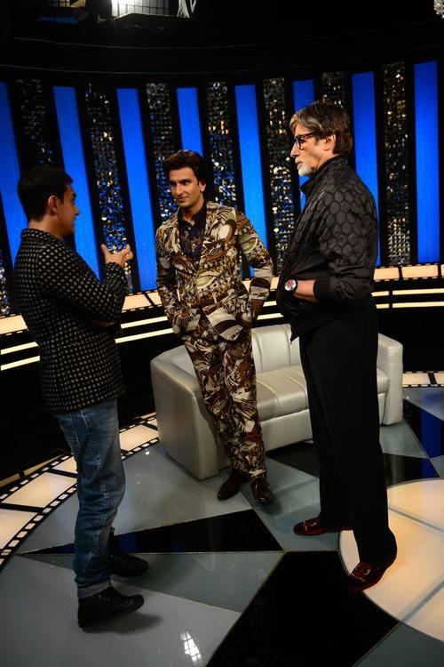 Aamir,Ranveer And Amitabh Pic During The Front Row Of Anupama Chopra