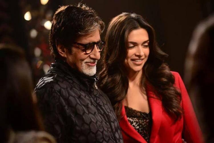 Deepika Stunning Pose With Amitabh On The Front Row Of Anupama Chopra