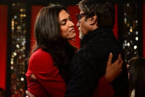 Hottie Deepika Padukone Hug Amitabh On The Front Row Anupama Chopra