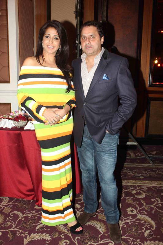 Krishika With Hubby Sunil Clicked At 25th Anniversary Celebration Of Shiva's Saloon And Academy