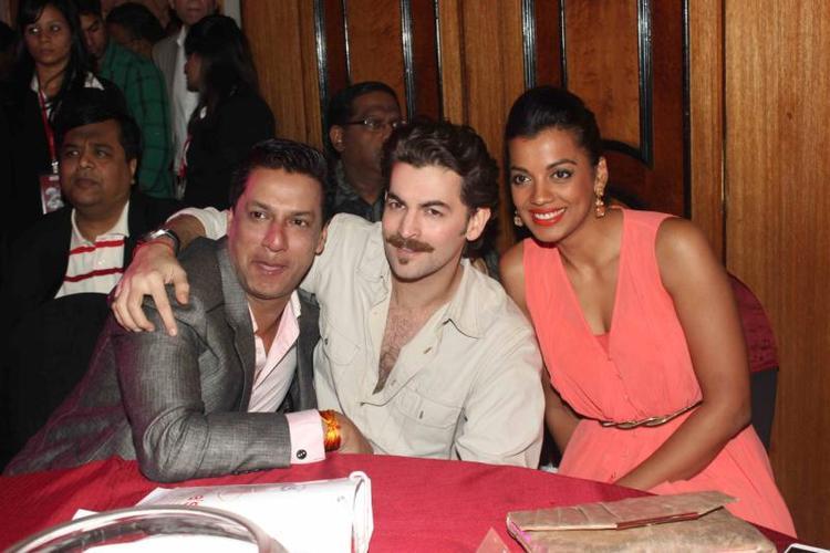 Madhur,Neil Nitin And Mugdha Posed At 25th Anniversary Celebration Of Shiva's Saloon And Academy