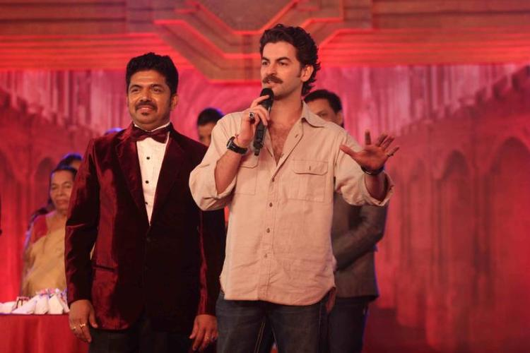 Neil Nitin Mukesh Addresses The Public During The 25th Anniversary Celebration Of Shiva's Saloon And Academy