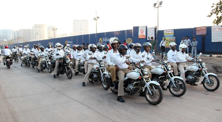 Akshay Kumar And Other Bikers Participating To Promote Wearing Safety Gear Like Helmets At This Event