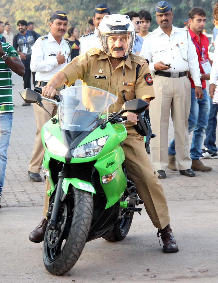 Mumbai Police On Bike To Promote Ride For Safety Bike Rally Event