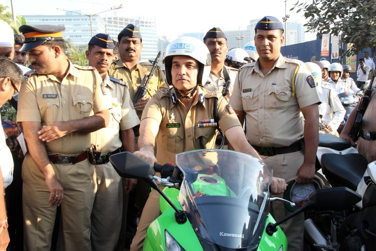 Mumbai Police At Ride For Safety Bike Rally Event
