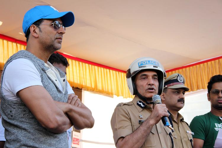Mumbai Police Talks At Ride For Safety Bike Rally Event