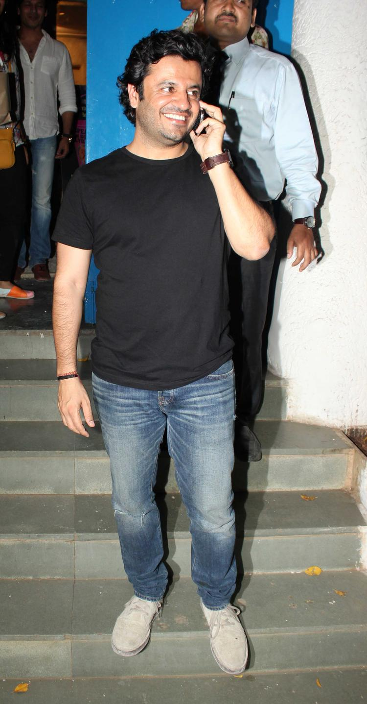 Vikas Bahl Busy With Cell During His Birthday Bash