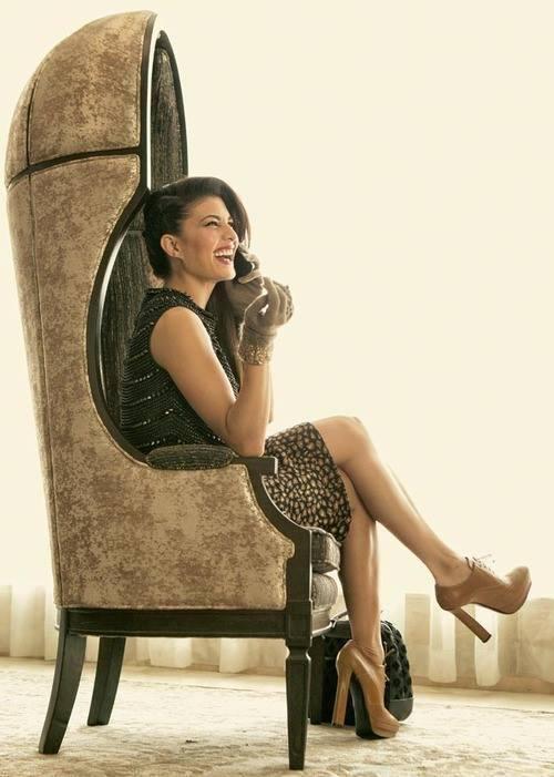 Sizzling Jacqueline Fernandez On The Cover Shoot For Harper's Bazaar Dec 2013