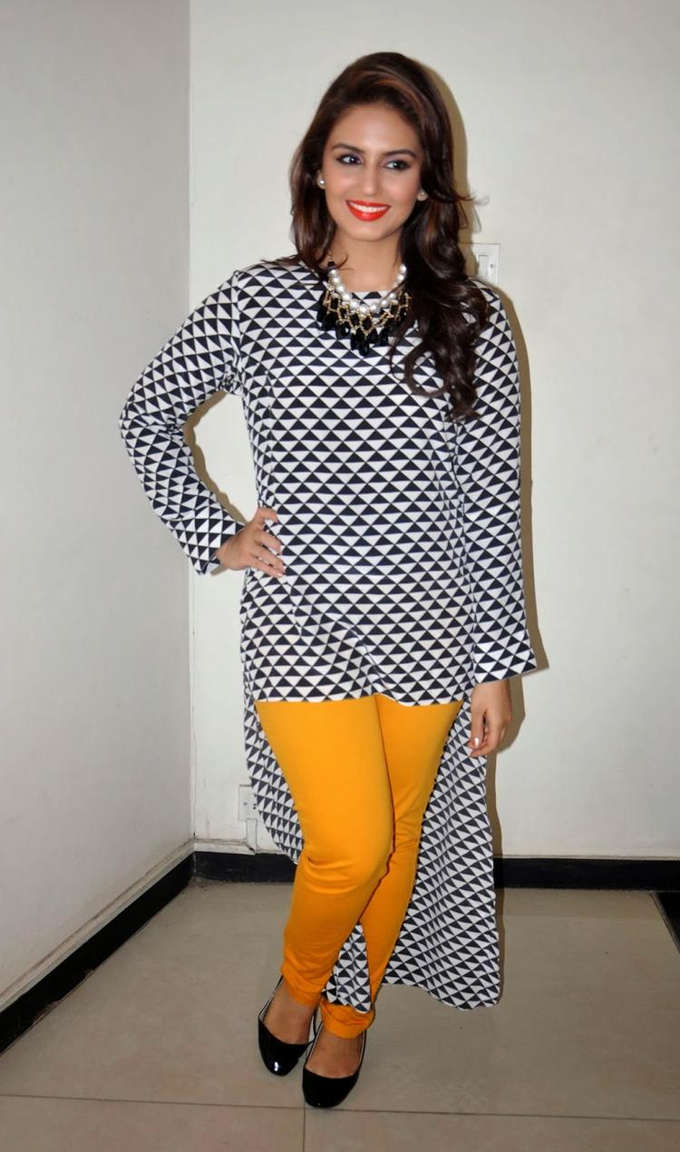 Hot Bollywood Lady Huma Qureshi Spotted To Promote Dedh Ishqiya At 98.3 FM