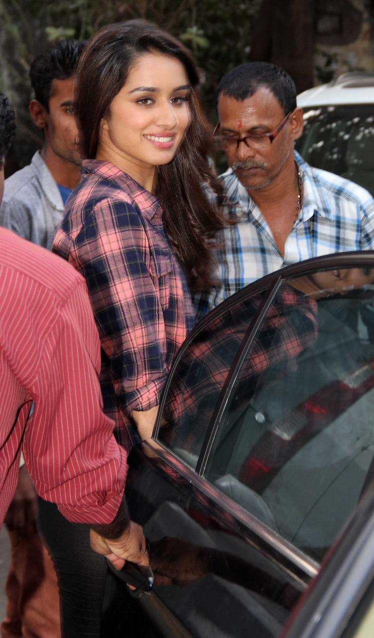 Bollywood Beauty Shraddha Kapoor Snapped For Koffee With Karan Show