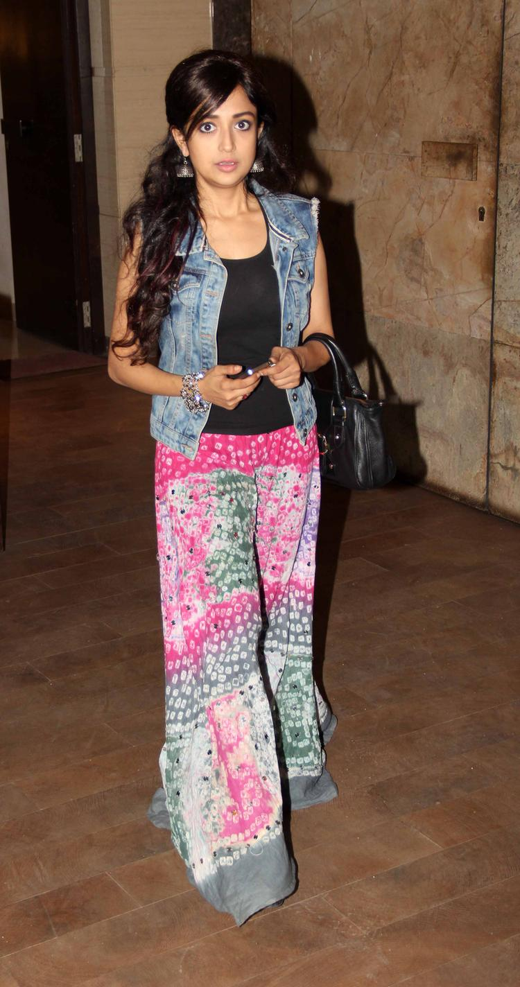 Cute Monali Thakur Snapped At Lakshmi Movie Special Screening