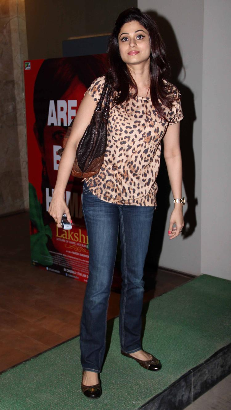 Shamita Shetty Strikes A Pose During Lakshmi Movie Special Screening