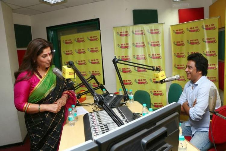Dimple Kapadia Promote Her Upcoming Flick WHAT THE FISH At 98.3 FM