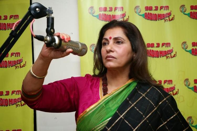 Dimple Kapadia Promotes WHAT THE FISH At A Radio Station