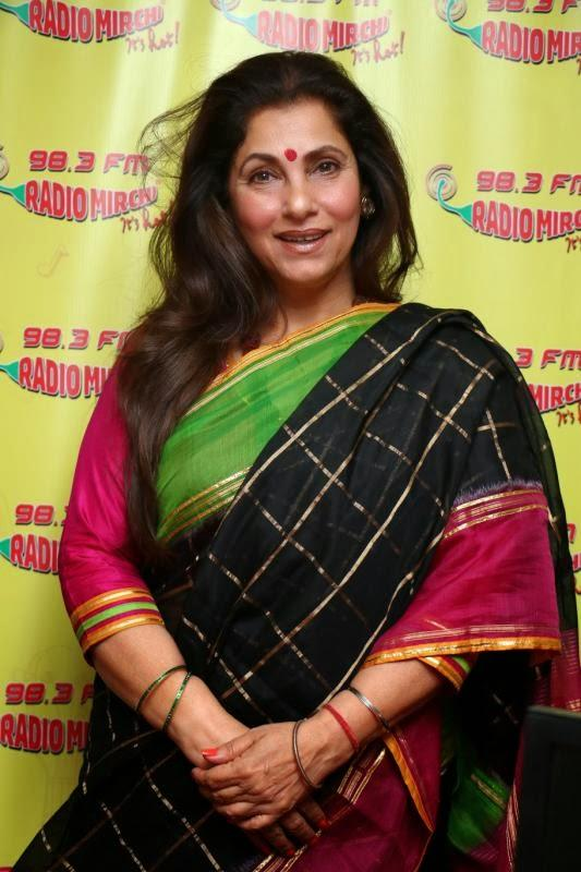 Dimple Kapadia At Radio Mirchi 98.3 FM During The Promotion Of WHAT THE FISH
