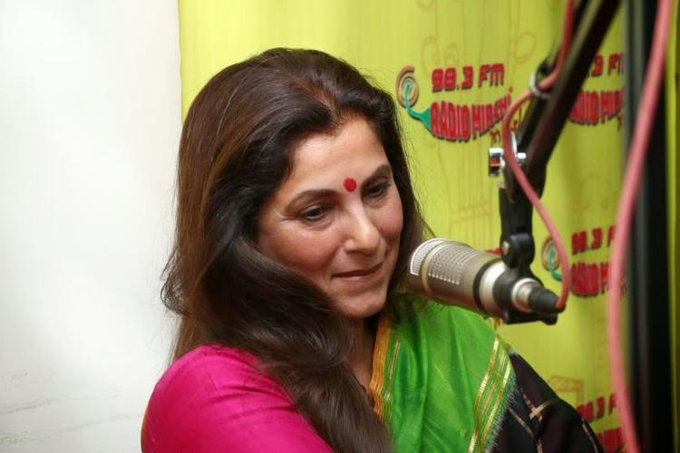 Veteran Actress Dimple At Radio Mirchi 98.3 FM For Promote Her Movie WHAT THE FISH