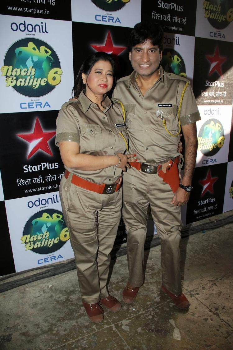 Raju And Shikha With A New Look Spotted On Shooting Set Of Nach Baliye 6