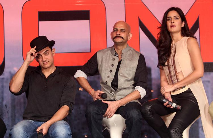 Aamir,Vijay Krishna And Katrina Promote Their Movie Dhoom 3 With A Press Conference