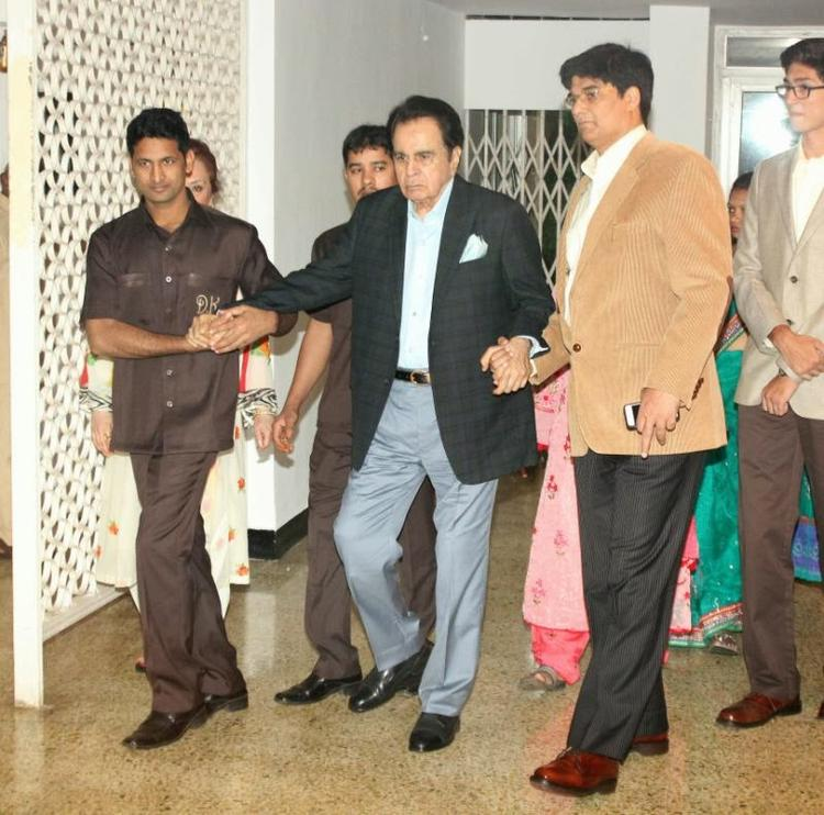 Dilip Kumar During The Celebration Of Dilip Kumar's Birthday Bash