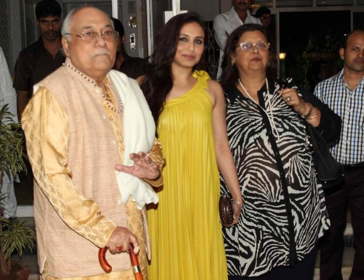 Rani Mukherjee Snapped At Legendary Actor Dilip Kumar's Birthday Bash