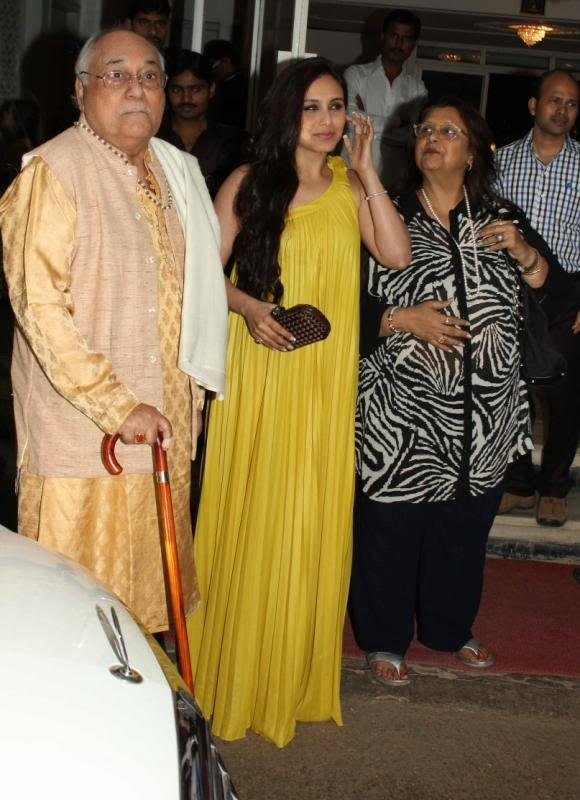 Rani Mukherjee In Yellow Maxi Attend Dilip Kumar's Birthday Party
